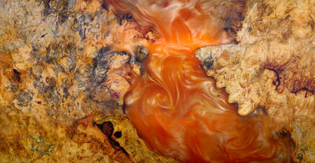 Top view casting epoxy resin burl wood background texture