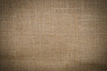 Closeup of brown burlap texture can use as background Archivio Fotografico
