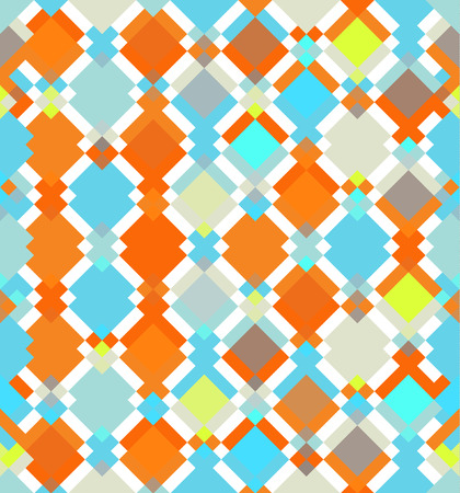 triangle shaped: Seamless vector colorful fantasy rhombus pattern. Abstract pattern