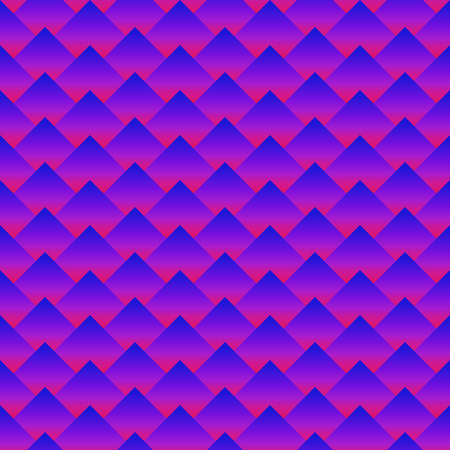 seamless rhombus abstract pattern. Gradient filling. Three dimentional effect. Trendy neon colors Illustration