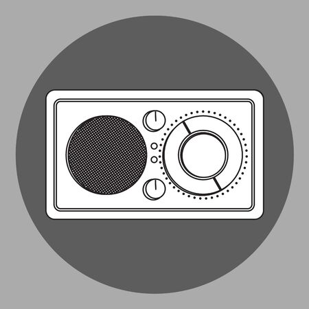 reciever: Black and white radio reciever Illustration