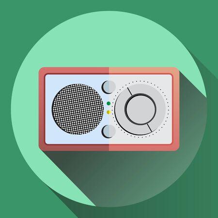 reciever: Flat style radio reciever icon