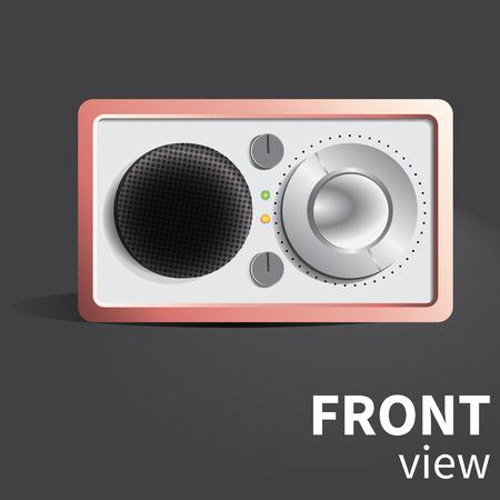 reciever: vector realistic radio reciever Illustration