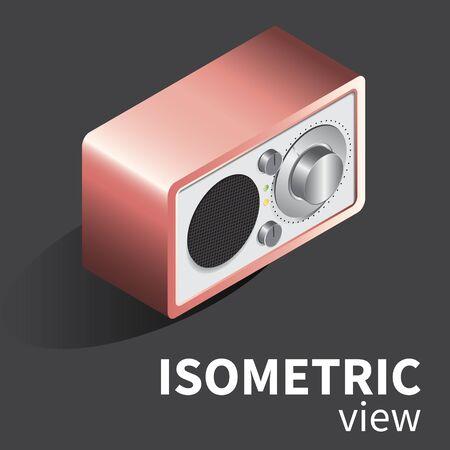 reciever: vector realistic radio reciever isometric
