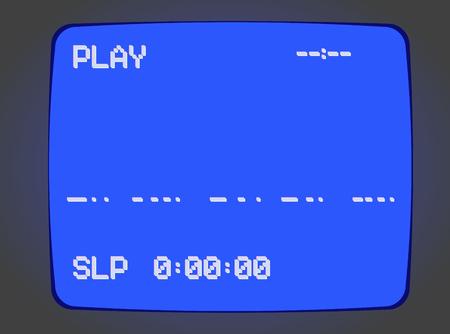 VHS ビデオテープ プレーヤーの青い画面