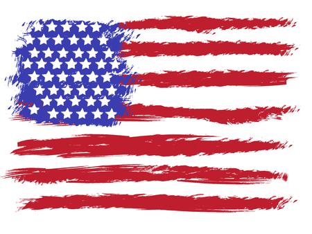 American grunge flag Reklamní fotografie - 88059292