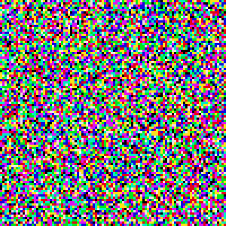 Vector TV noise flickering. Colored grainy tileable noise effect of no signal. Illustration