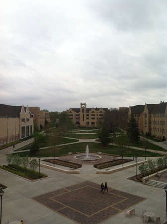 university fountain: University of St  Thomas Saint Paul campus Stock Photo