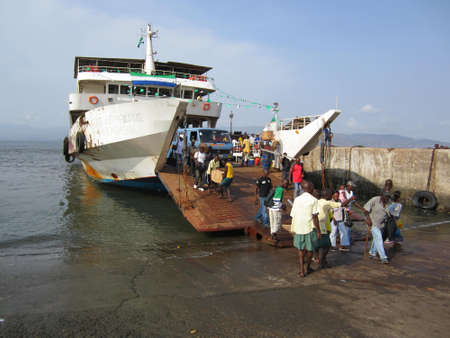 Ferry off loading in Sierra Leone