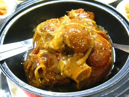 trotters: Baked Trotters with Black Pepper Sauce