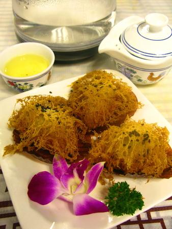 deep fried: Deep Fried Taro Dumplings Stock Photo