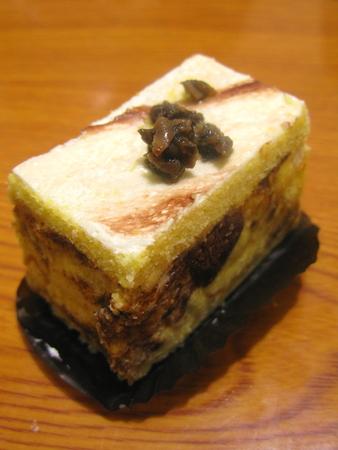 terrific: Marble Cake Topped with Black Truffle Stock Photo