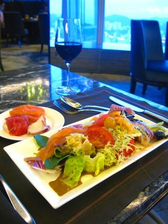 seaview: Dining at Seaview Restaurant Stock Photo