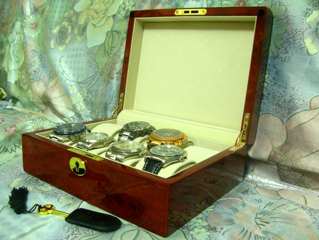 expensive: Expensive Watches and Wooden Watch Box