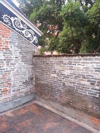 ブルース・リー祖先の家の屋根バルコニー