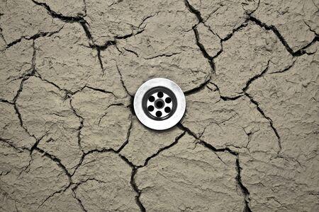 cranny: Water drain in dry cranny soil
