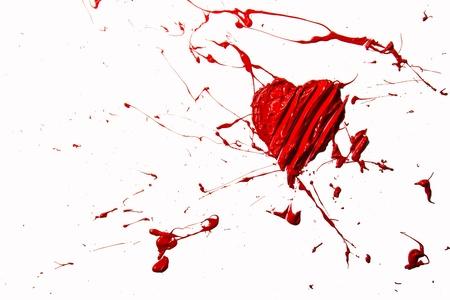 Red color bursting love heart Stock Photo - 17485799