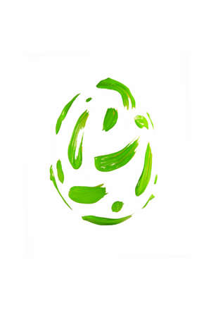 Green paint strokes shaped easter egg