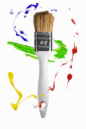 circulating: Paint strokes circulating around the paintbrush
