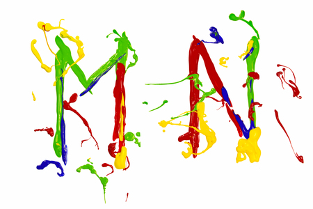 playfull: Letter m and n painted colorful