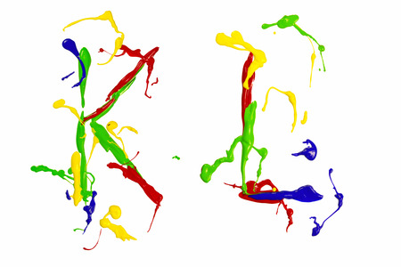 Letter k and l painted colorful photo