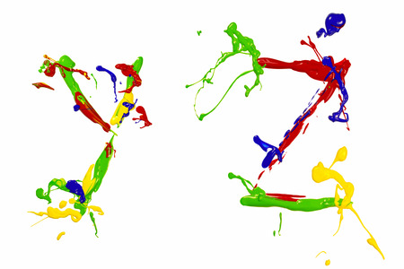 Letter y and z painted colorful photo