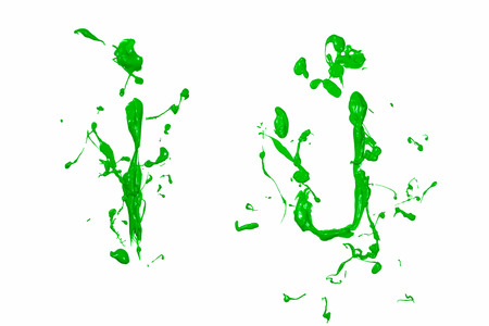 Letter i and j painted green