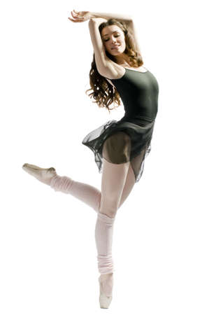 a young wonderful ballerina is dancing gracefully Stock Photo - 2635237