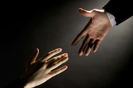 dependency: a man giving a friendly helping hand