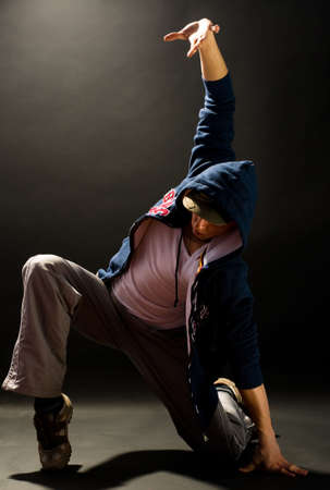 a young nice man dancing modern dances Stock Photo - 2869525