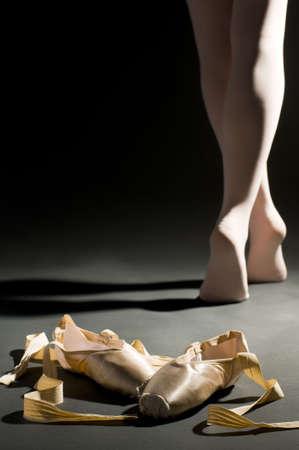 zapatos escolares: schoes ballet en la sala oscura palabra