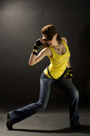 a young nice girl dancing modern dances Stock Photo - 2913065