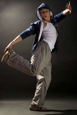 a young nice man dancing modern dances Stock Photo - 2913066