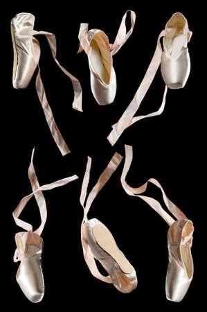 zapatillas de ballet: nuevo ballet zapatos sobre fondo negro