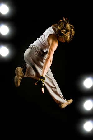 a young nice man dancing modern dances Stock Photo - 3716889