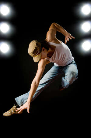 a young nice man dancing modern dances Stock Photo - 3716891