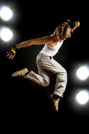 a young nice man dancing modern dances Stock Photo - 3716890
