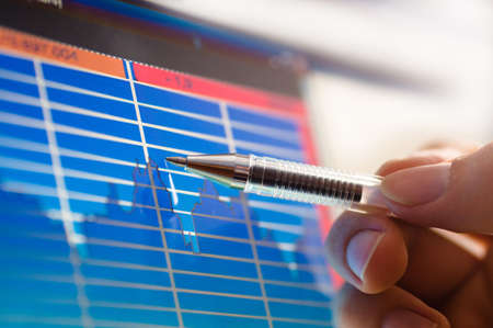 business analyze - closeup on lcd screen Stock Photo - 3791884