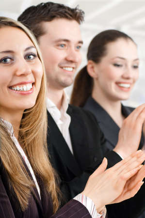 team of successful smiling young business people Stock Photo - 4205245