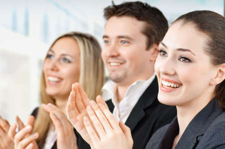 team of successful smiling young business people Stock Photo - 4280630