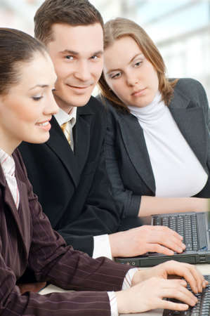 team of successful smiling young business people Stock Photo - 4280673