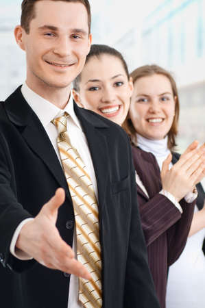 team of successful smiling young business people Stock Photo - 4280670