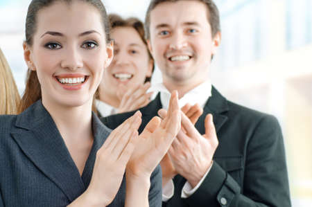 team of successful smiling young business people Stock Photo - 4308956