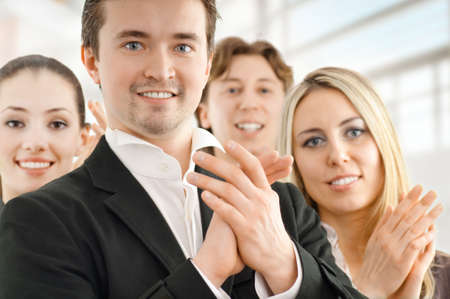 team of successful smiling young business people Stock Photo - 4426793