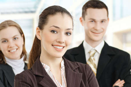 team of successful smiling young business people Stock Photo - 4477927