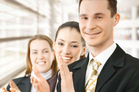 team of successful smiling young business people Stock Photo - 4477933