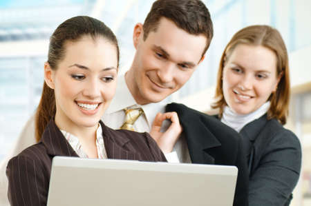 team of successful smiling young business people Stock Photo - 4477945