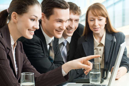team of successful smiling young business people Stock Photo - 4477974
