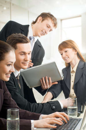 team of successful smiling young business people Stock Photo - 4477947