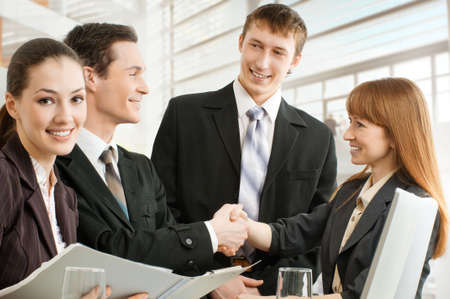 team of successful smiling young business people Stock Photo - 4493528